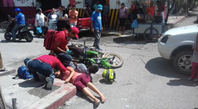 Dos heridos por choque en el Centro de Iguala