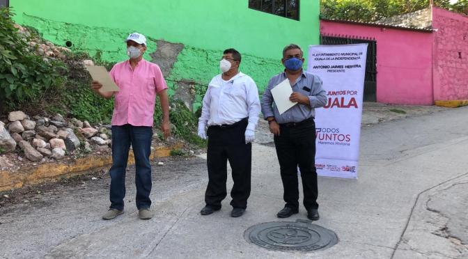 Inaugura Alcalde obras de drenaje y rodadas en la CNOP parte alta
