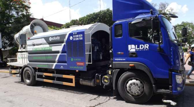 Presentan camión sanitizador